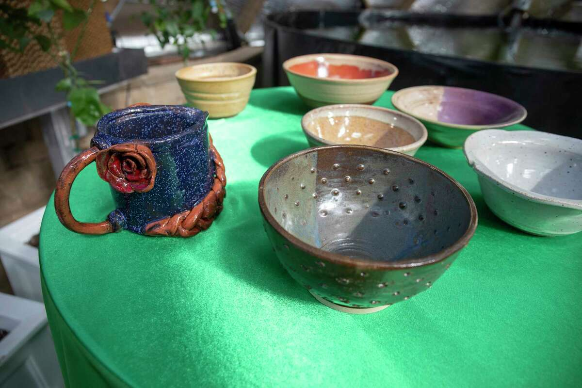 Scenes from the West Texas Food Bank's Empty Bowls fundraiser event Saturday, Jan. 30, 2021 at the WTFB's Innovative Gardens. Jacy Lewis/ Reporter-Telegram