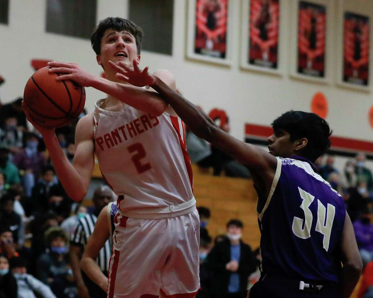Caney Creek shooting guard Kaleb Turner (2), shown here earlier in January against Montgomery, scored 22 points in the Panthers' double-overtime win over Dayton on Saturday.