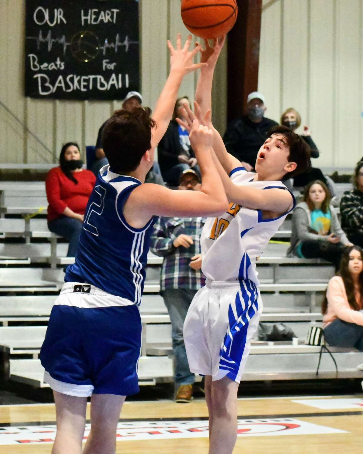 Plainview Christian Academy basketball teams split a pair of games against Wichita Falls Christian on Saturday afternoon. The Lady Eagles won 66-34 and the Eagles fell 79-34.