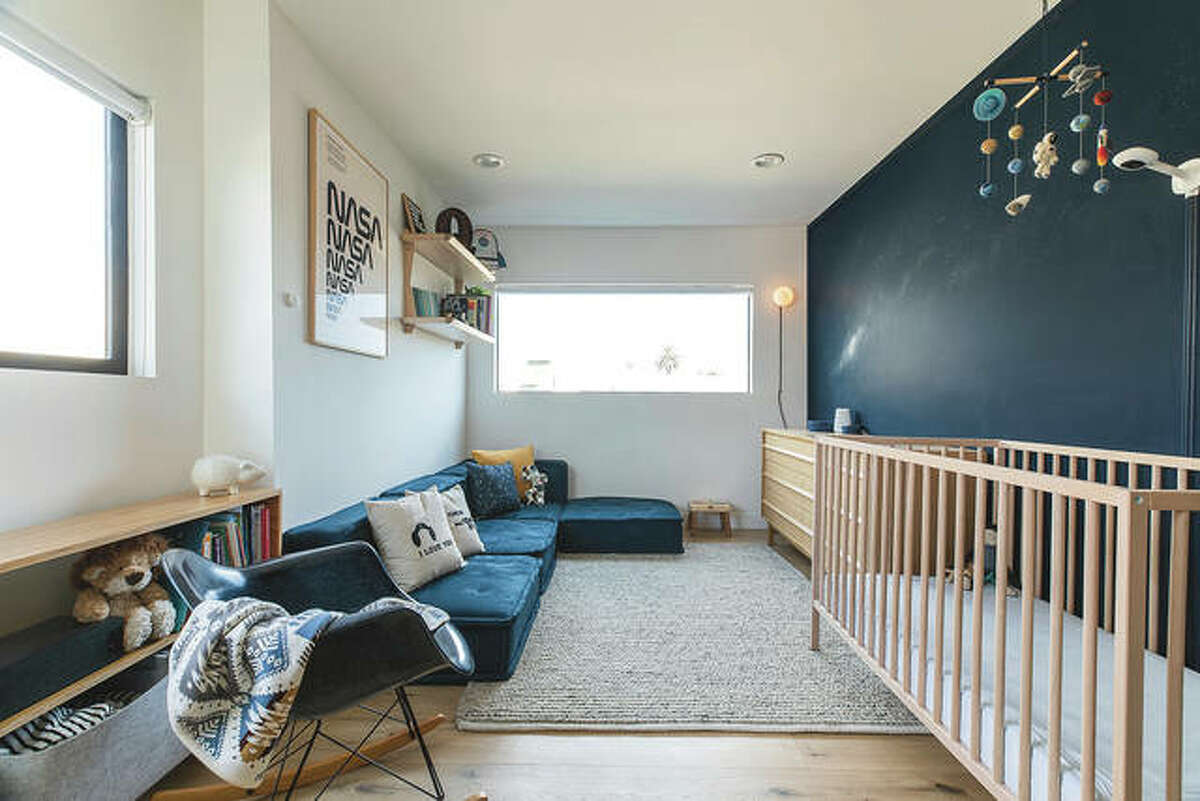 Rachel Magana, senior visual designer at the sustainable furniture-rental company Fernish, says she picked up some cosmological decorating ideas from a colleague's recent nursery project.