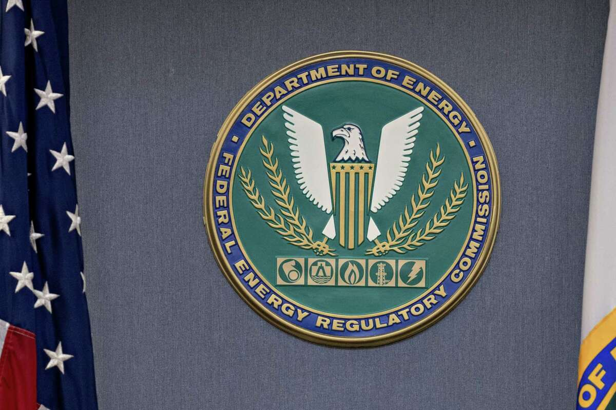 The Federal Energy Regulatory Commission seal in Washington, D.C., on Dec. 20, 2018.