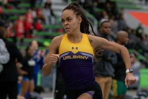 Asia Jinks, senior,  UAlbany track and field star.