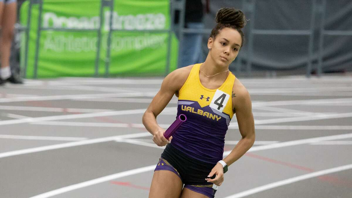 Asia Jinks, UAlbany track and field star. (Jay Bendlin)