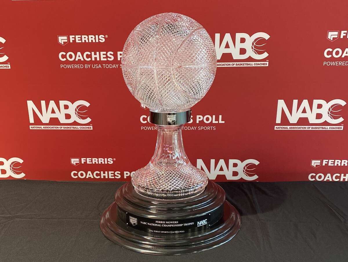 The Ferris Mowers NABC National Championship Trophy is on display at Fertitta Center, the first stop of the nationwide tour.