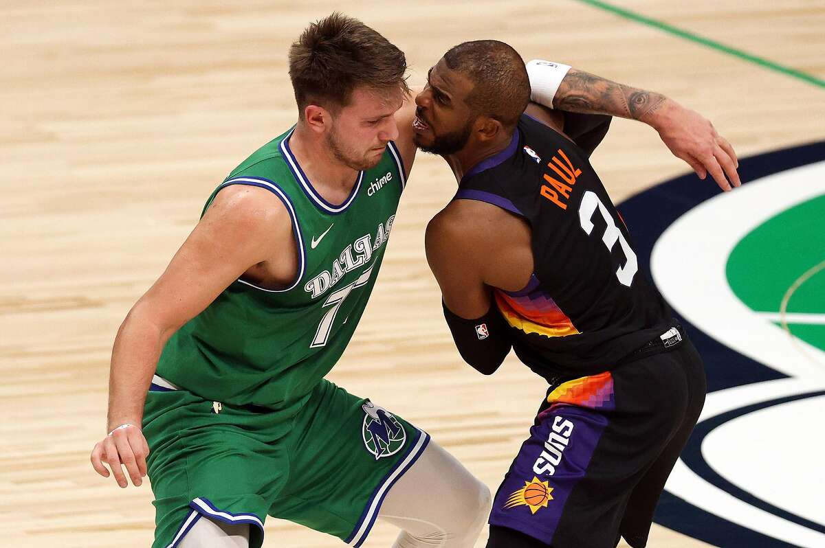 Dallas' Luka Doncic and Phoenix's Chris Paul, who each scored 29 points in the Suns' 111-105 win over the Mavericks on Saturday night, meet again at 5:30 p.m. Monday (NBA TV).
