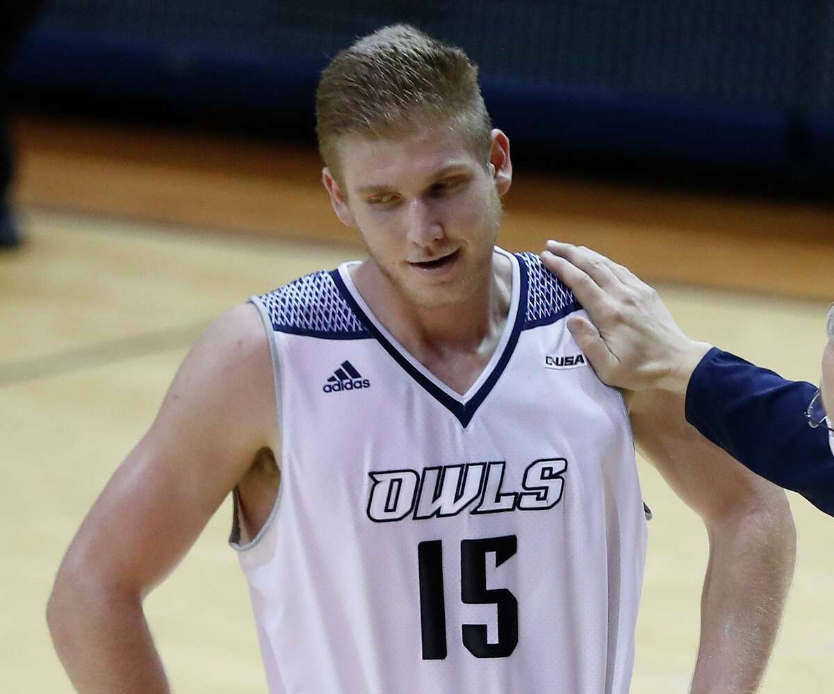 After scoring 16 points in the first half for Rice on Sunday, Max Fiedler was held to two in the second.
