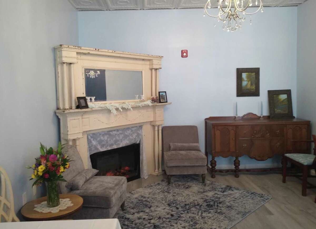 The corner of the party room in Tea With Tracy's Oxford, Conn., location. The tearoom hosted a ribbon-cutting ceremony on Jan. 29, 2021.