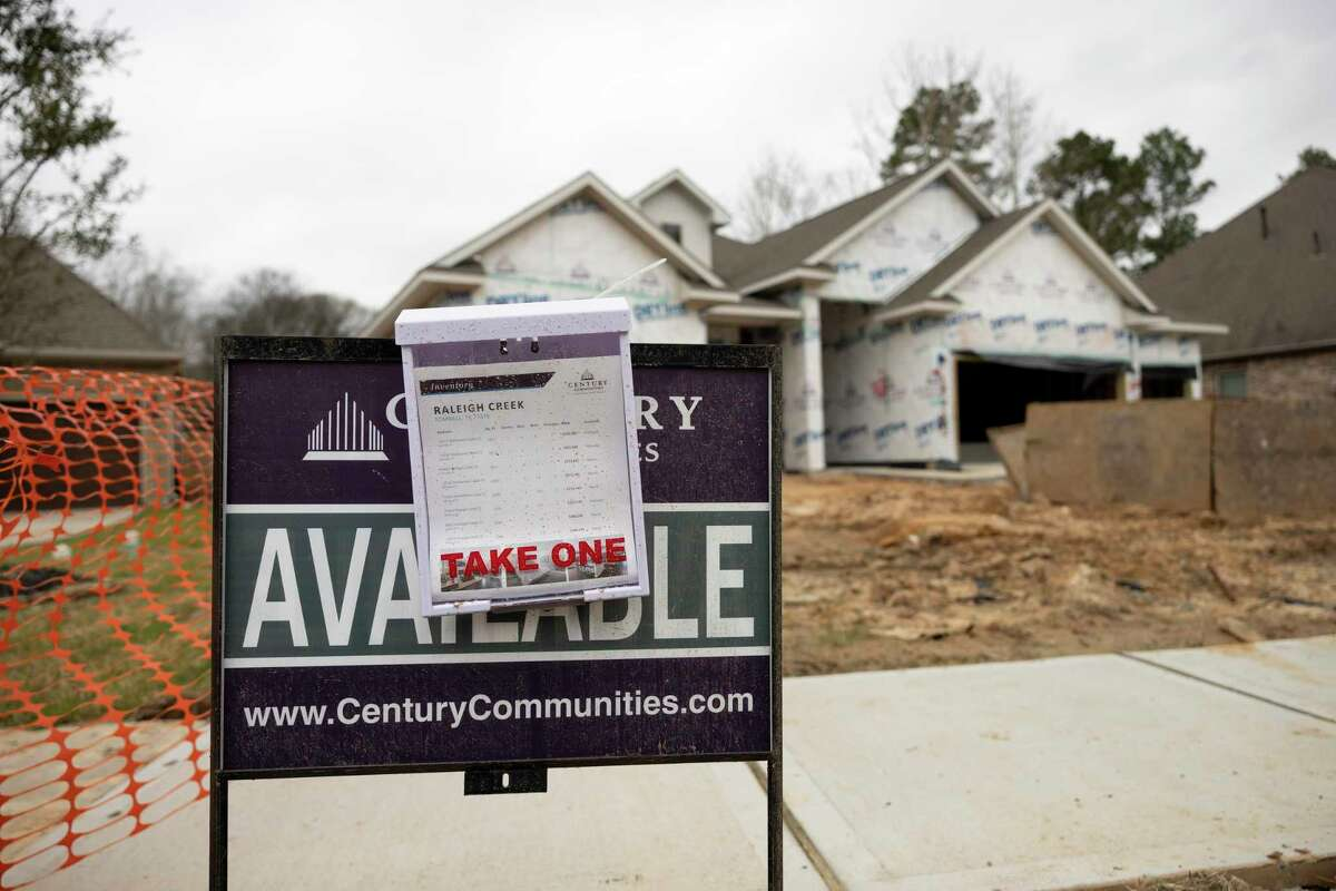 As seen a new home is constructed in a new development called Raleigh Creek in Tomball.