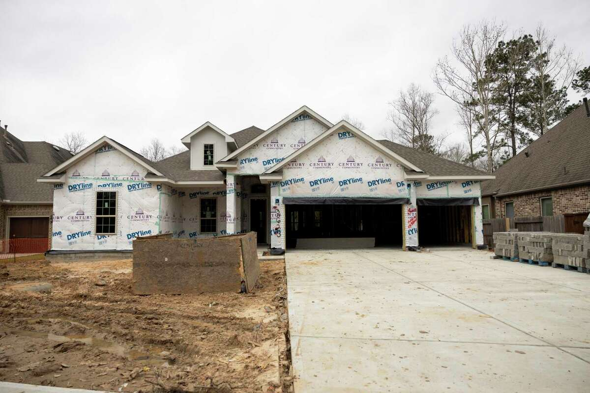 As seen a new home is constructed in a new development called Raleigh Creek, Saturday, Jan. 30, 2021, in Tomball.