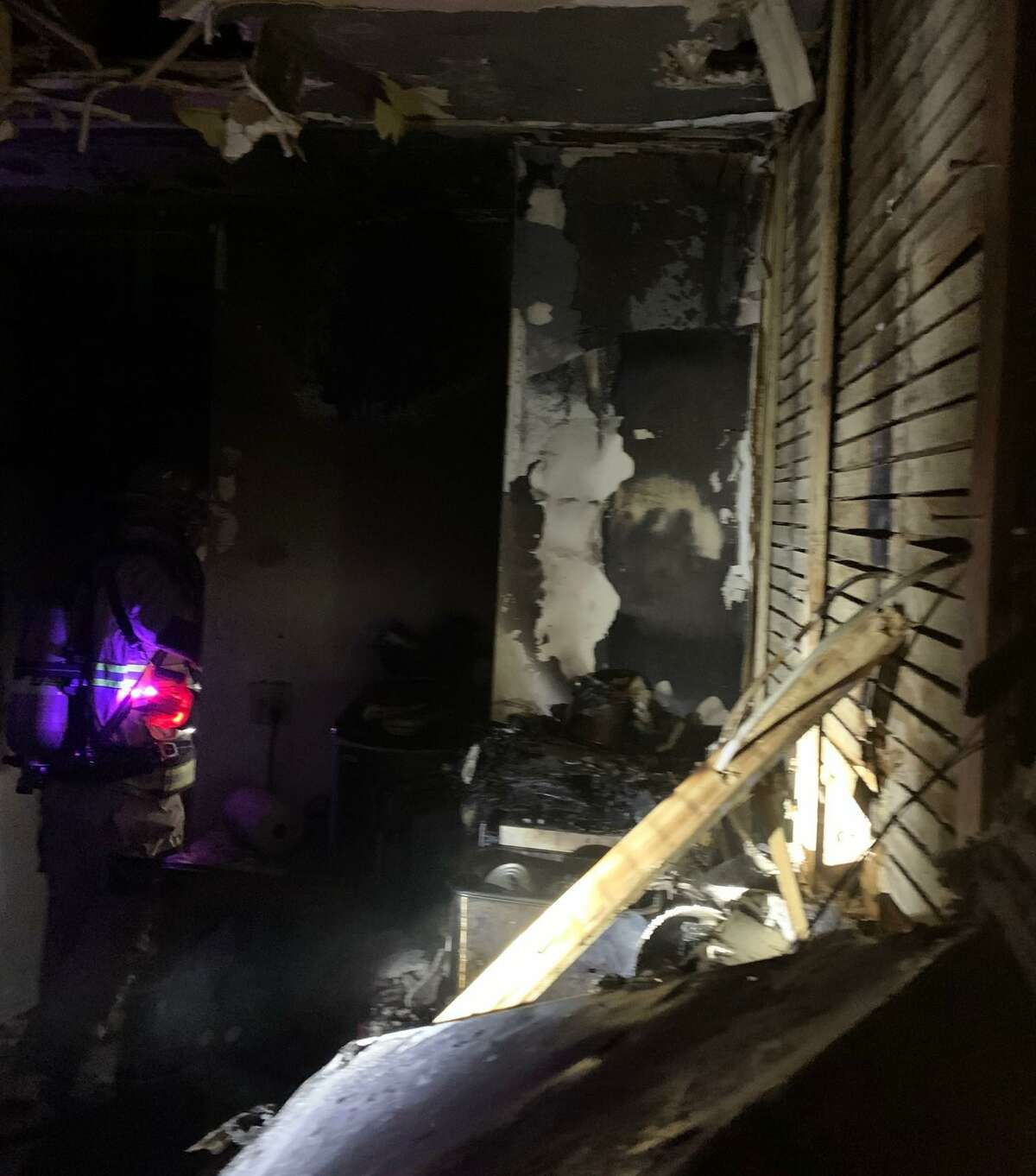 Shelton firefighters battled a fire in a multi-family apartment house on Howe Avenue on Sunday, Jan. 31.