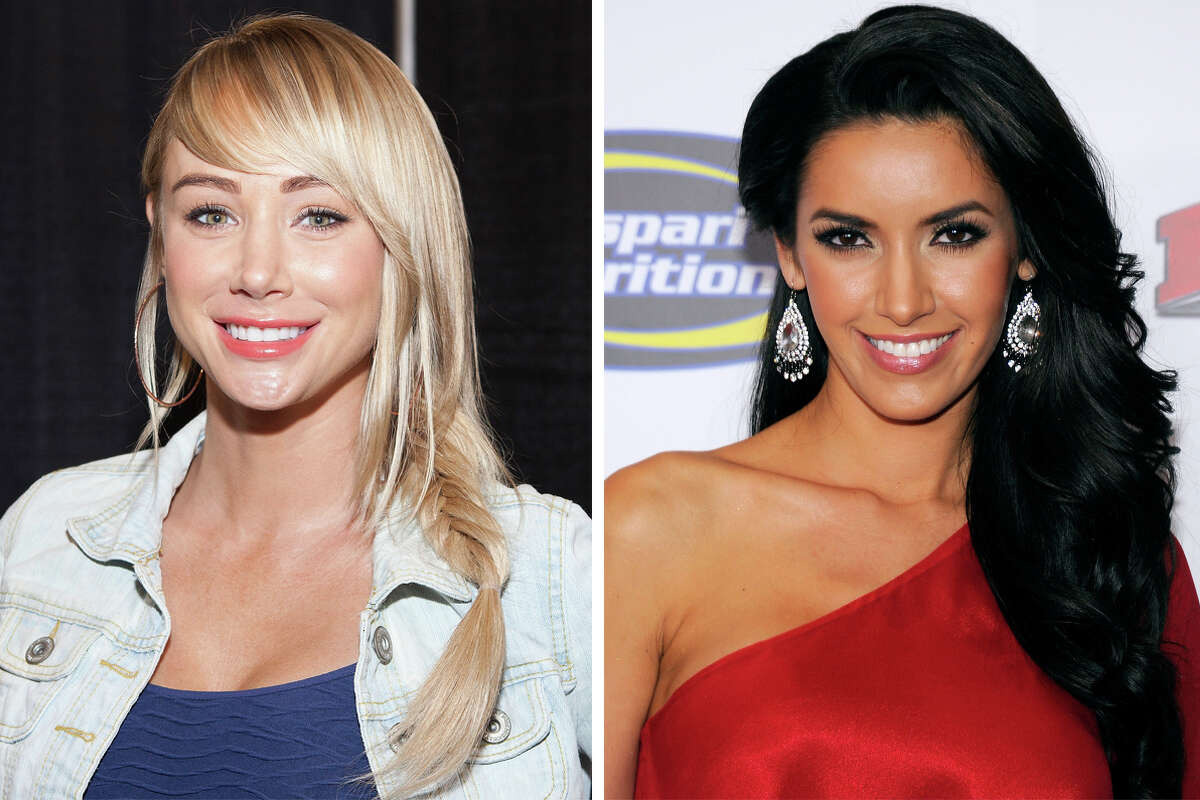 Sara Underwood (left) and Mercedes Terrell are among the models suing a Houston strip club over the alleged use of their photos in fliers.