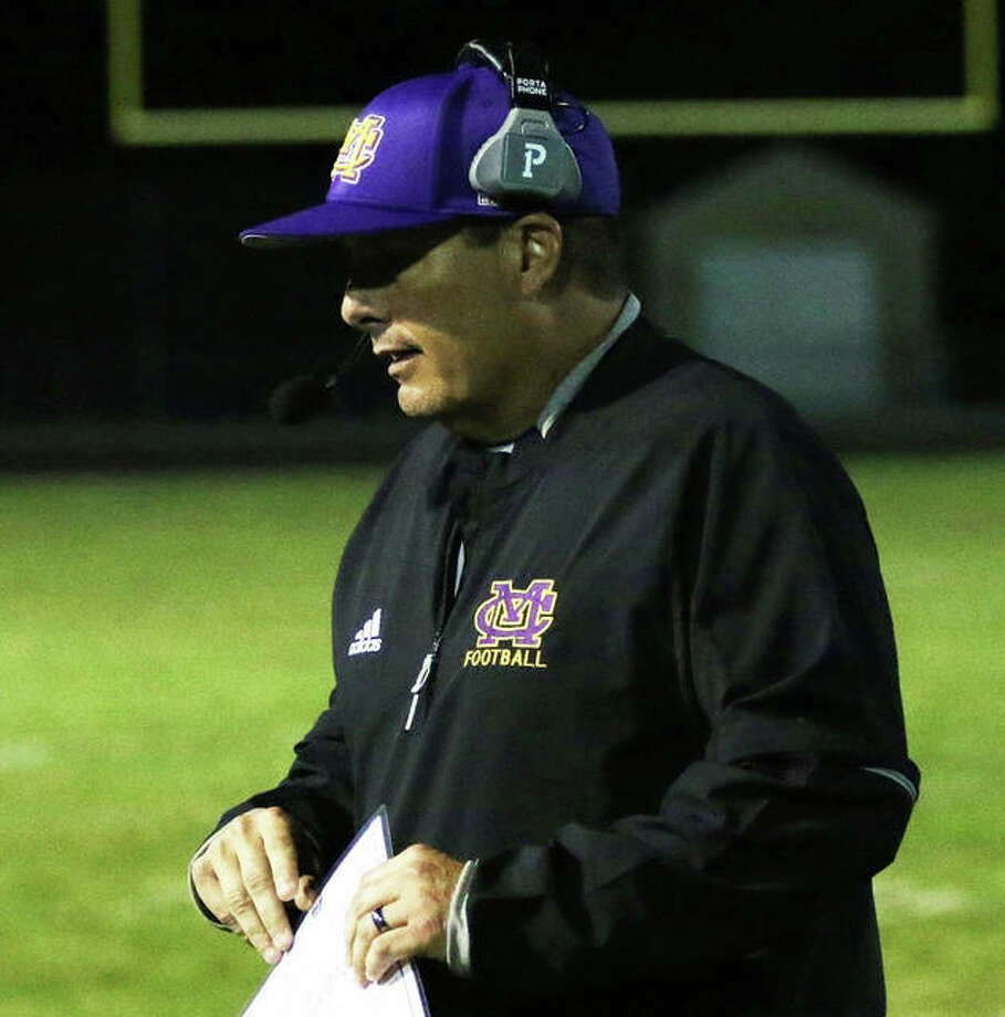 CM coach Mike Parmentier's Eagles will open the 2021 spring season at Waterloo before opening at home in Week 2 against Jersey under the Mississippi Valley Conference's new Bowl Series format announced Monday. Photo: Greg Shashack / The Telegraph