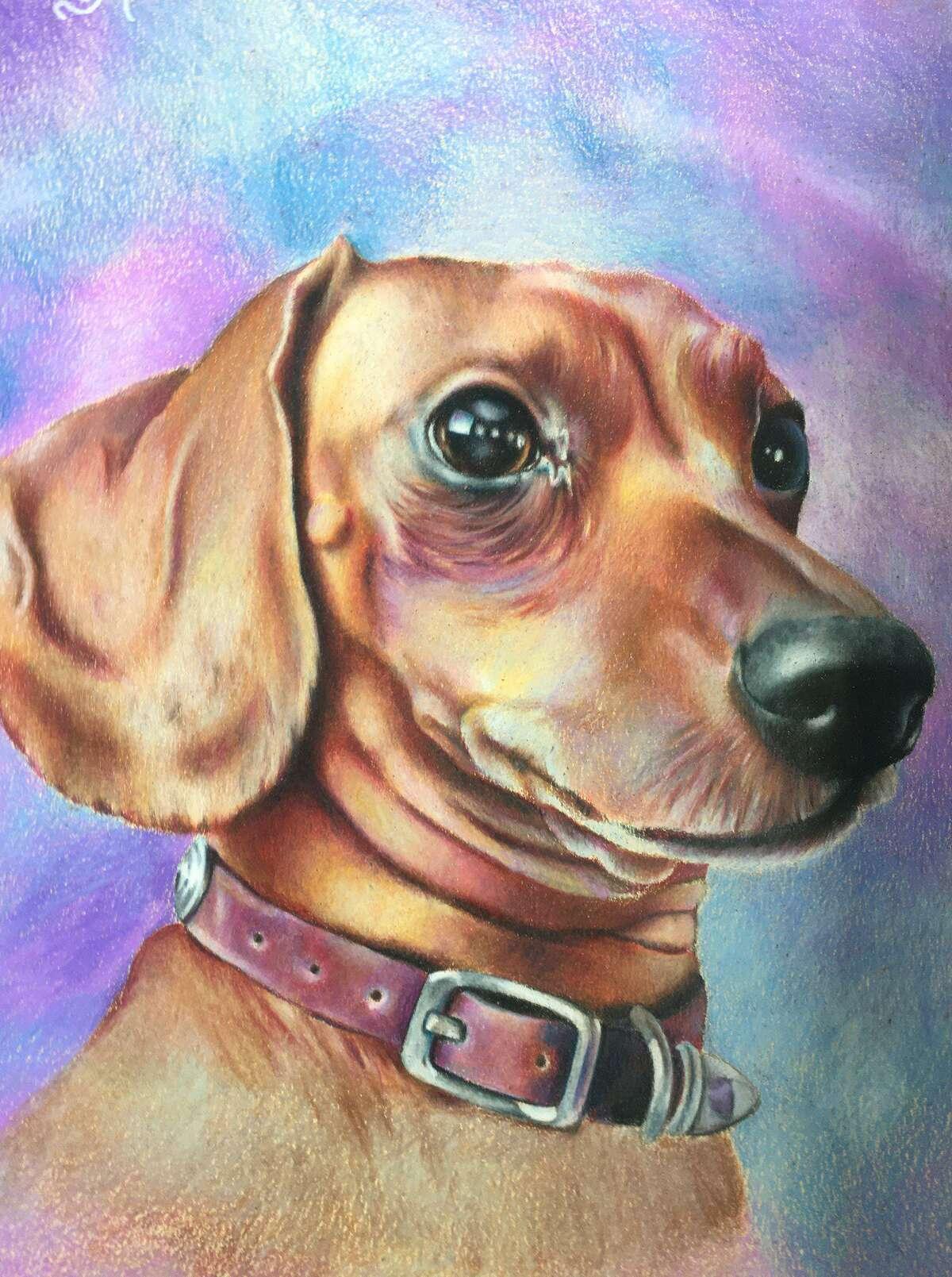 Varia Martynova, age 15, creates custom pet portraits.