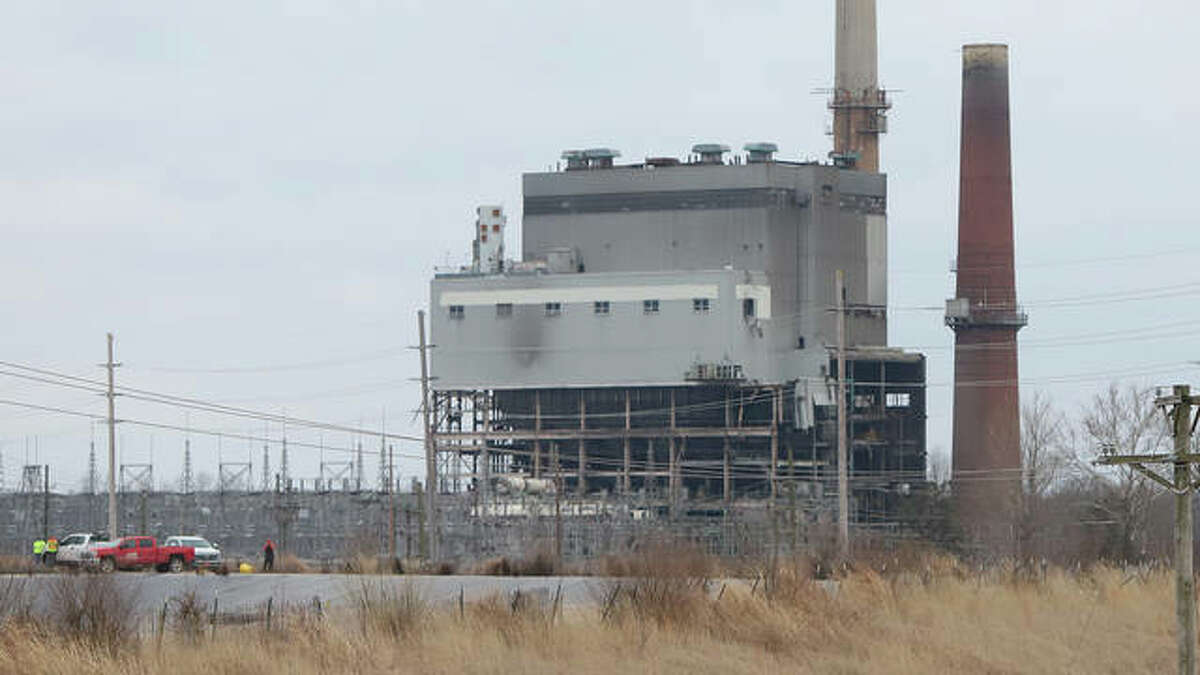 Photos capture the demolition of the Wood River Power Station in East Alton on Monday morning.