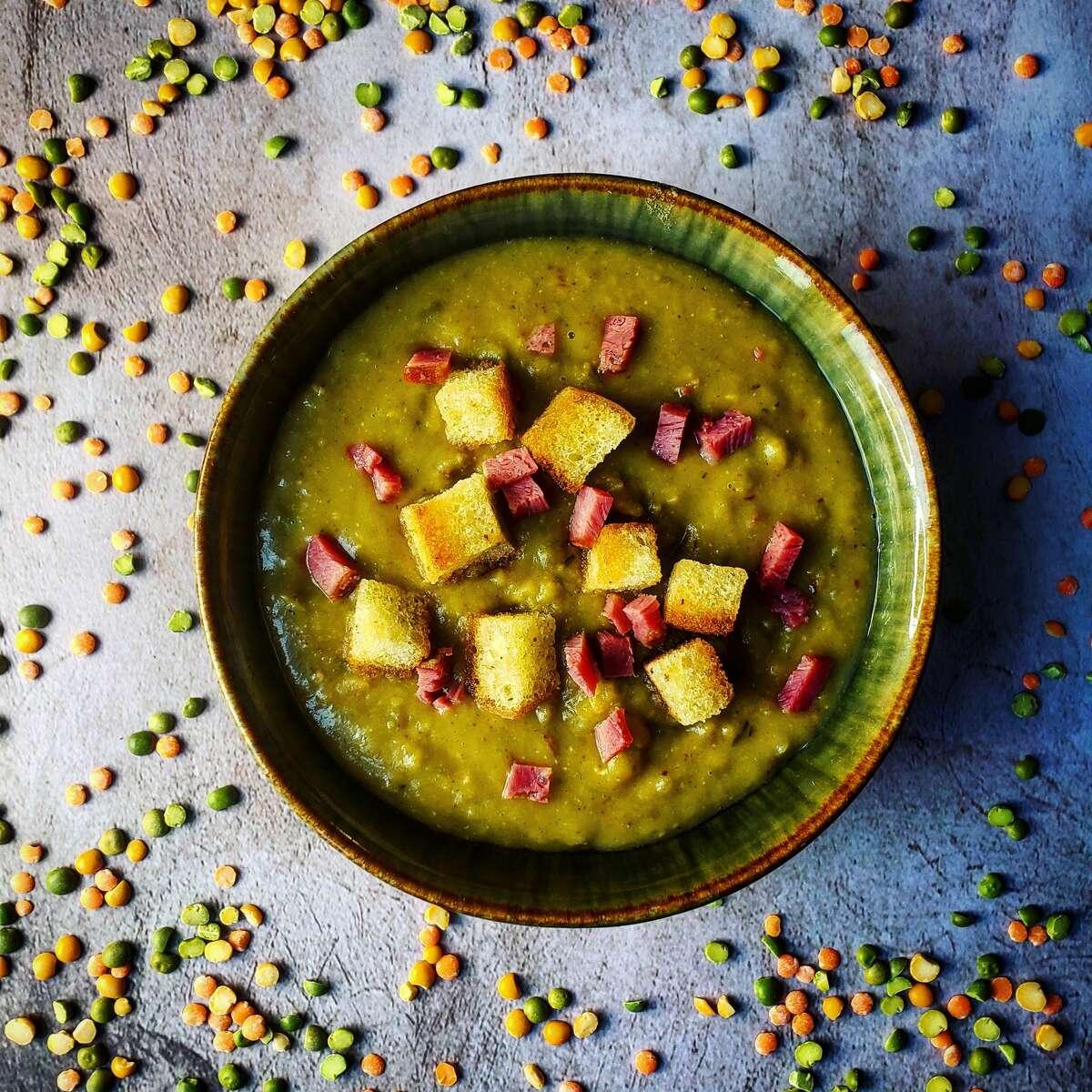 Split pea soup, by Deanna Fox.