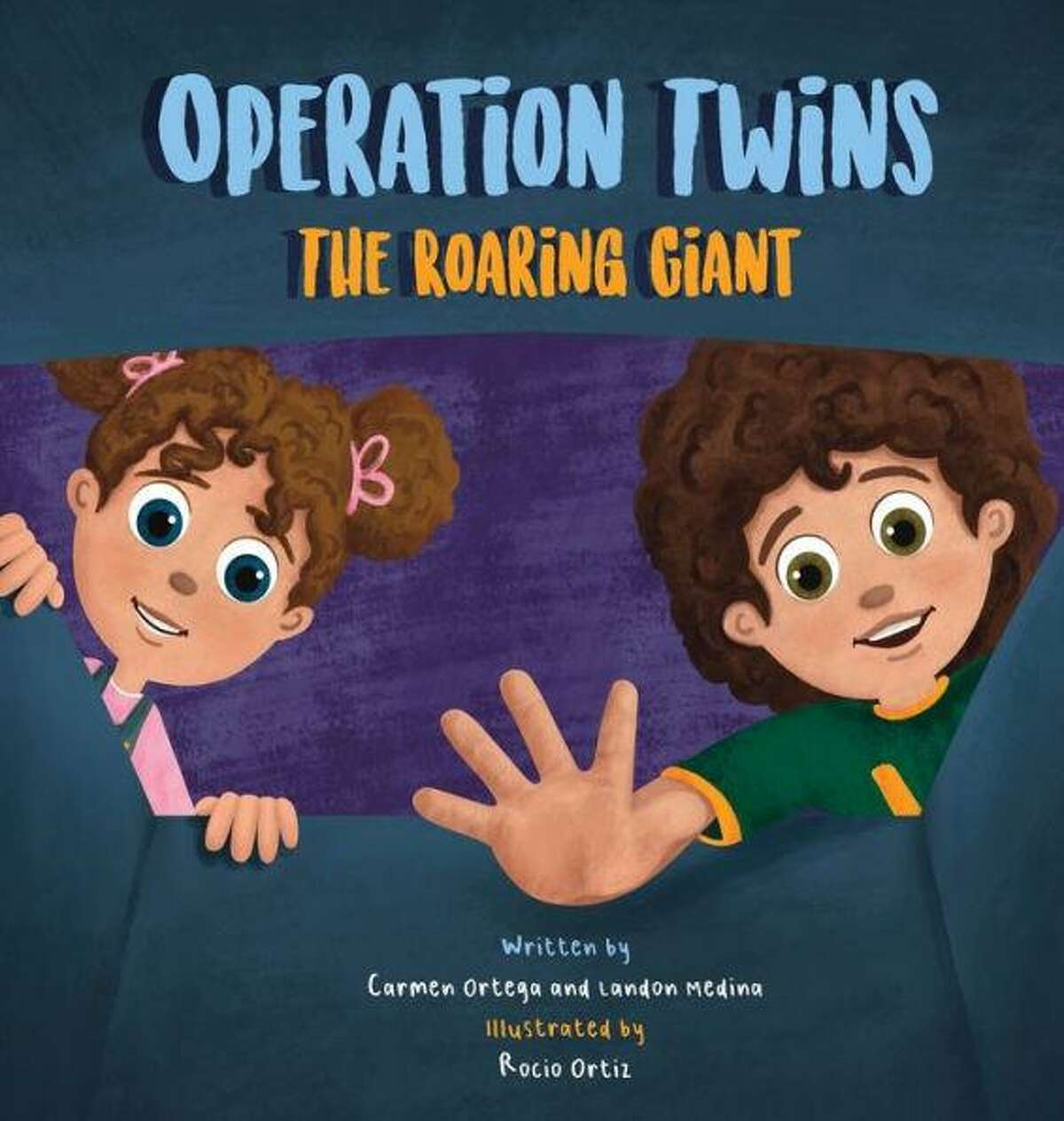 """Conroe mother and son Carmen Ortega and Landon Medina have authored a new children's book """"Operation Twins The Roaring Giant."""" The book is available through Barnes and Noble."""