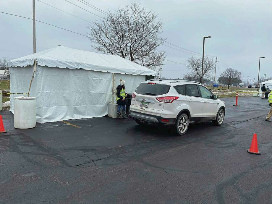 Munson Healthcare Manistee Hospital held its first drive-thru COVID-19 vaccine clinic in January. Munson Healthcare announced on Feb. 1 several changes to the visitation policies at its northern Michigan facilities.(File photo)