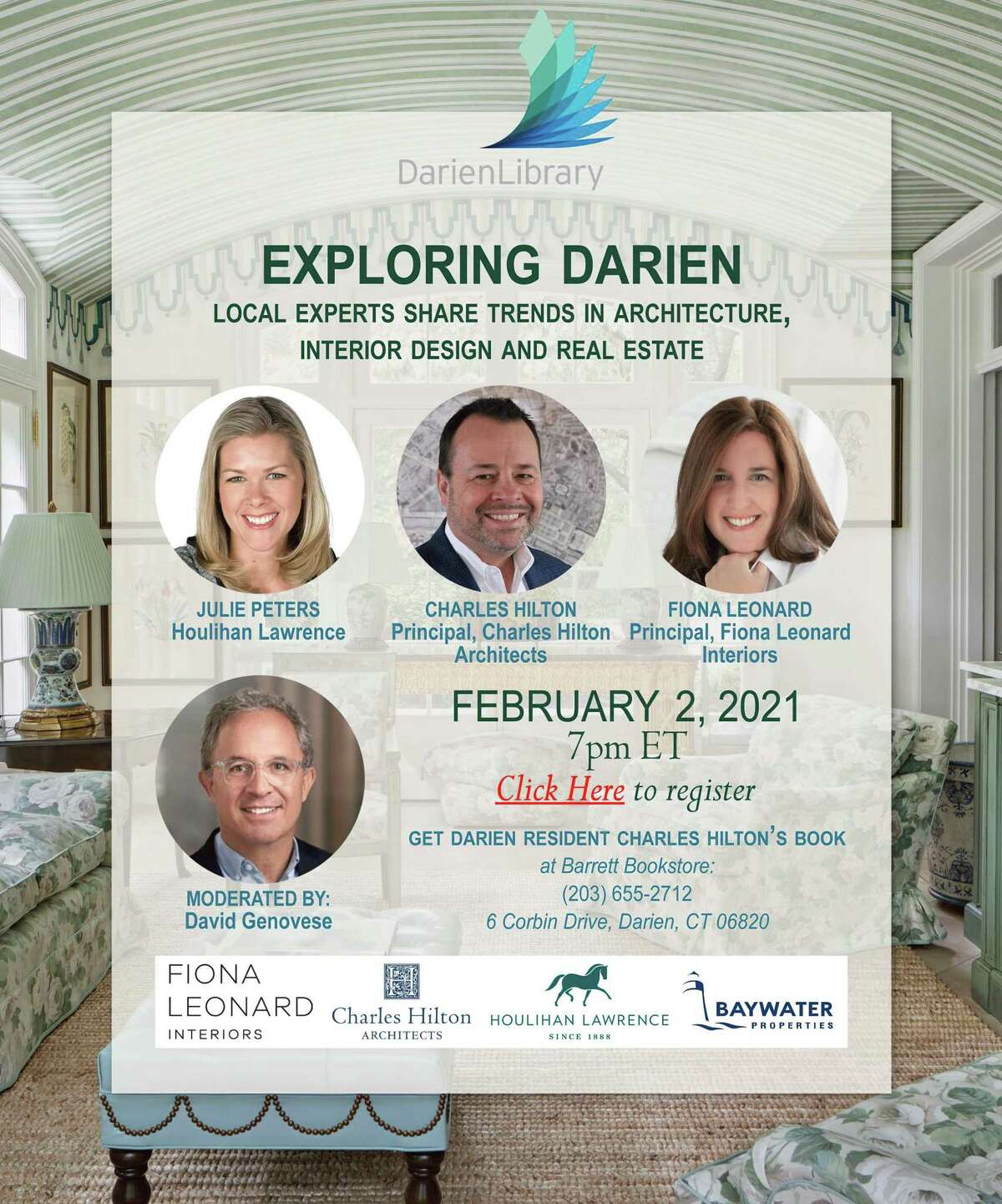 Local experts are going to share trends in architecture, interior design, and real estate during a virtual