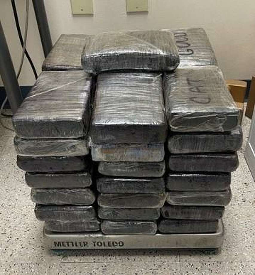 Shown are the nearly 114 pounds pounds of cocaine seized Jan. 26 by CBP officers. Photo: Courtesy / U.S. Customs And Border Protection