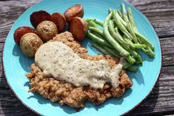 Cast Iron Chicken-Fried Steak Cooked on the Grill