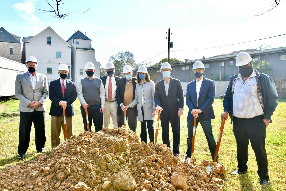 Pelican Builders held a groundbreaking ceremony for The Westmore, a 33-unit condominium at 2323 W. Main on Thursday, Jan. 28, 2021.