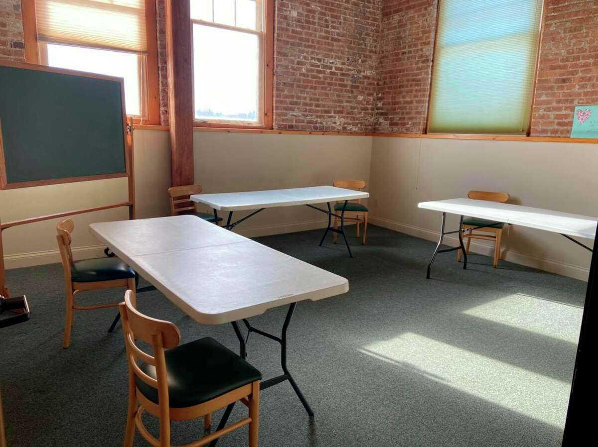 Rooms have been set up for classes and seminars at the new Manistee Friendship Society location in Manistee.(Courtesy Photo/Cassandra Kamaloski)