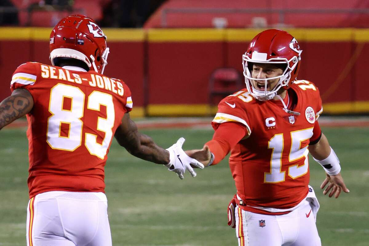 Sealy's Ricky Seals-Jones and Whitehouse's Patrick Mahomes can form a Texas connection for the Chiefs.