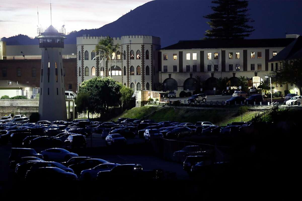 San Quentin State Prison in San Quentin, Calif., on Monday, December 14, 2020. California prison officials and medical staff sparked a