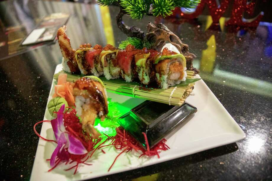 A cowboy roll which is available at Sumo Sushi and Hibachi as seen Monday, Feb. 1, 2021 at 4706 N. Midkiff Road Suite 15.  Jacy Lewis/ Reporter-Telegram Photo: Jacy Lewis/ Reporter-Telegram