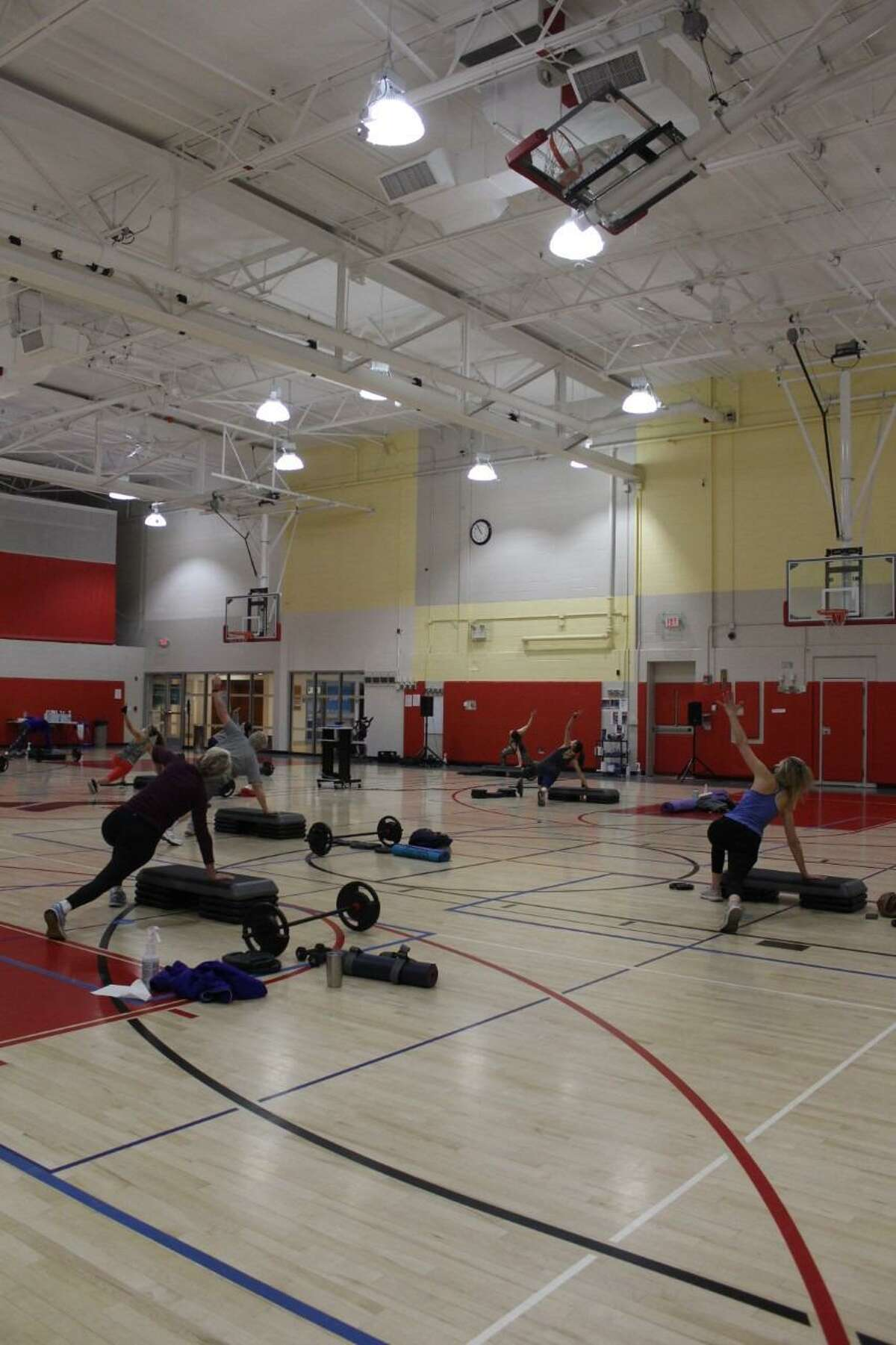 The New Canaan YMCA's Strength Train Together class previously takes place at the YMCA in the town where people go to exercise. Registration for the YMCA's spring offerings of classes begins Monday, February., 8, 2021, with the classes beginning March 8, 2021.