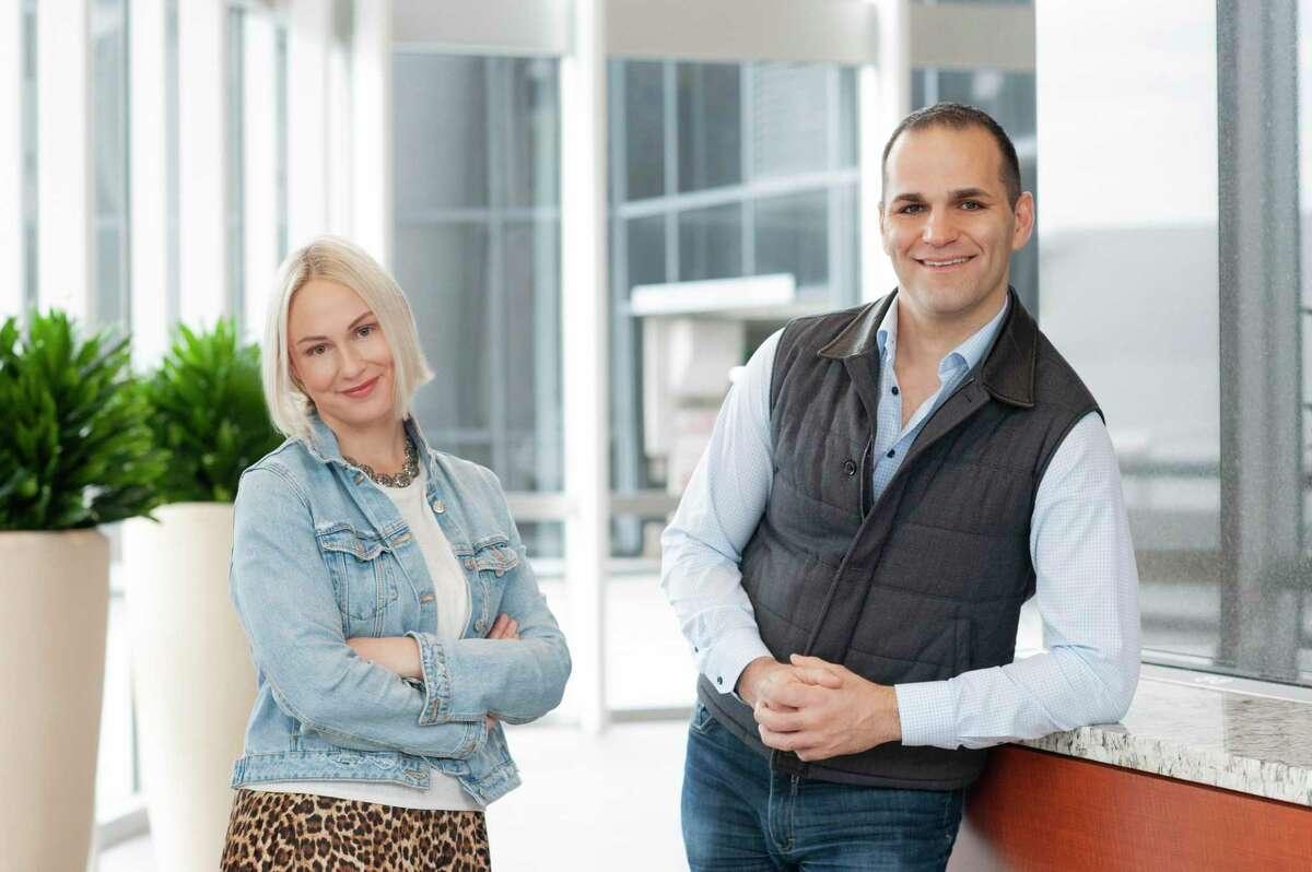 "Rhythm head of marketing Cable Daniel-Dreyfus and CEO Predrag ""P.J."" Popovic."