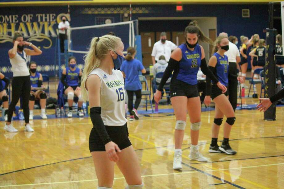 Brooke Edgerly was a libero last spring for Morley Stanwood. (Pioneer file photo)