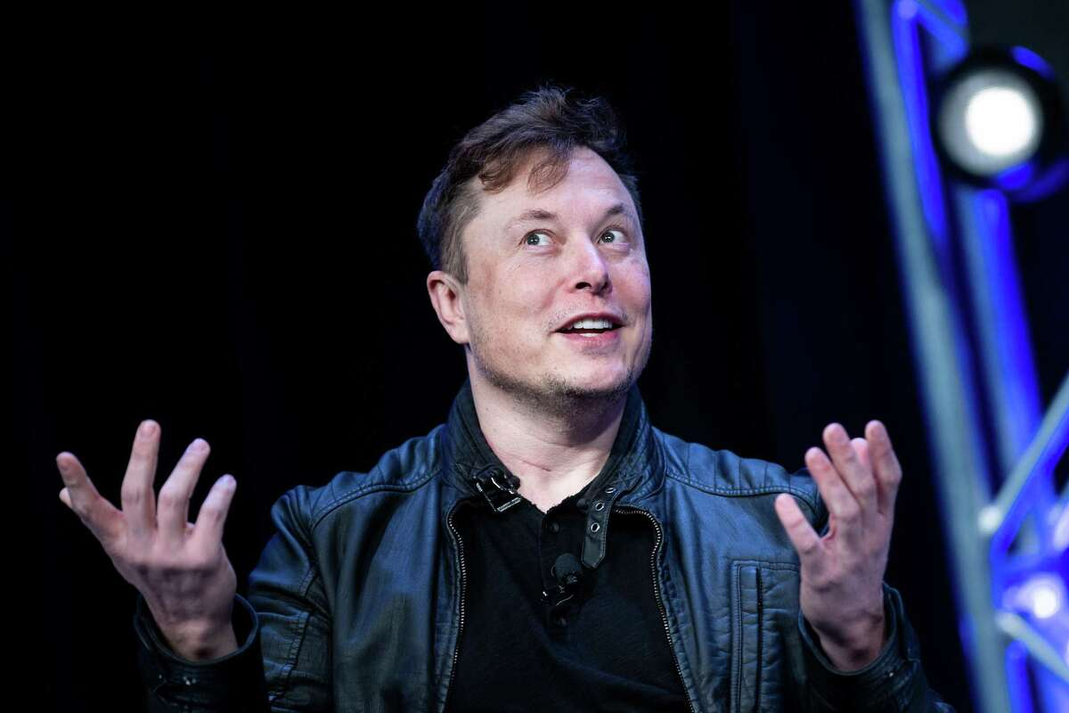 Elon Musk, founder of SpaceX and Tesla, speaks at the Washington Convention Center March 9, 2020, in Washington, DC. Tesla apparently dissolved its public relations department in October. (Photo by BRENDAN SMIALOWSKI/AFP via Getty Images)