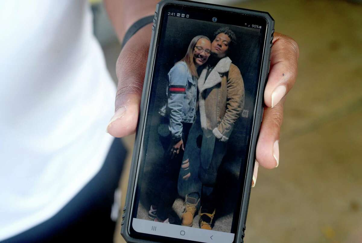 Aaliyah Gradnigo's father shows one of the family's favorite photos of Aaliyah and her boyfriend T.J. Livings. Family and friends said it was