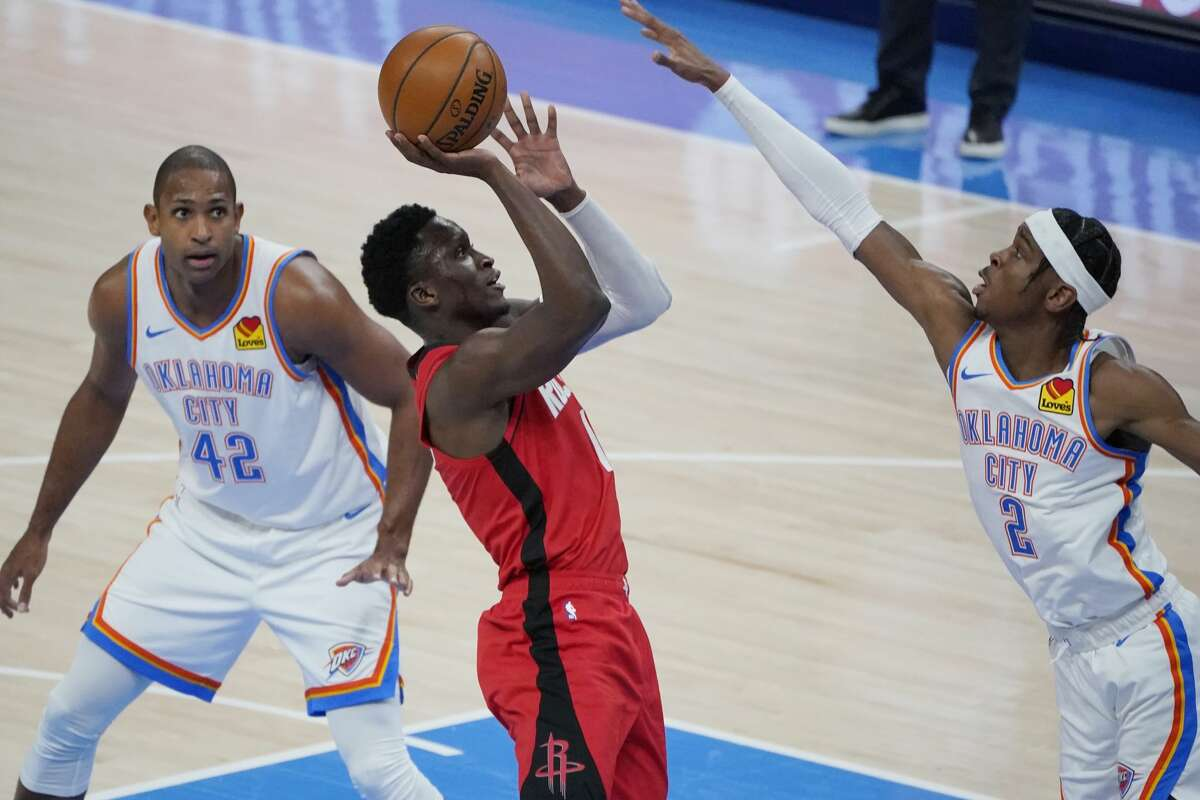 Victor Oladipo and the Rockets will go for a two-game road sweep of the Thunder on Wednesday night in Oklahoma City.