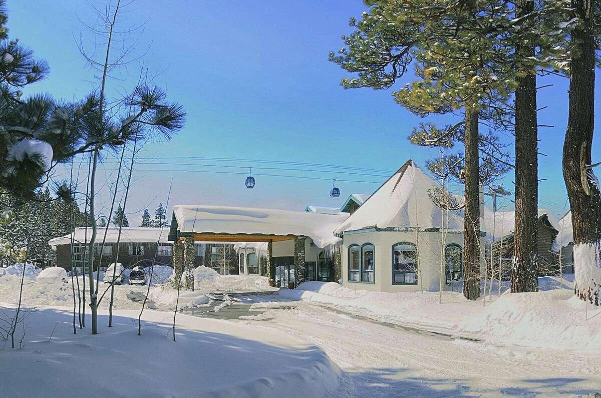 Snowy resort at Tahoe.