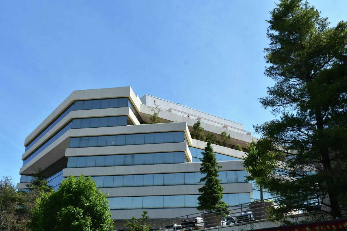 The 401 Merritt 7 headquarters office of Frontier Communications in Norwalk, Conn.