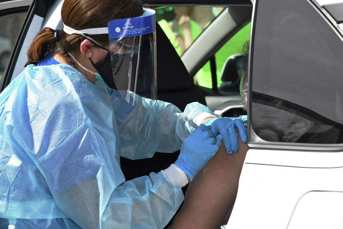 Registered nurses throughout both LISD and UISD administered COVID-19 vaccines Monday as the city partnered with the districts to set up sites at 25 schools.