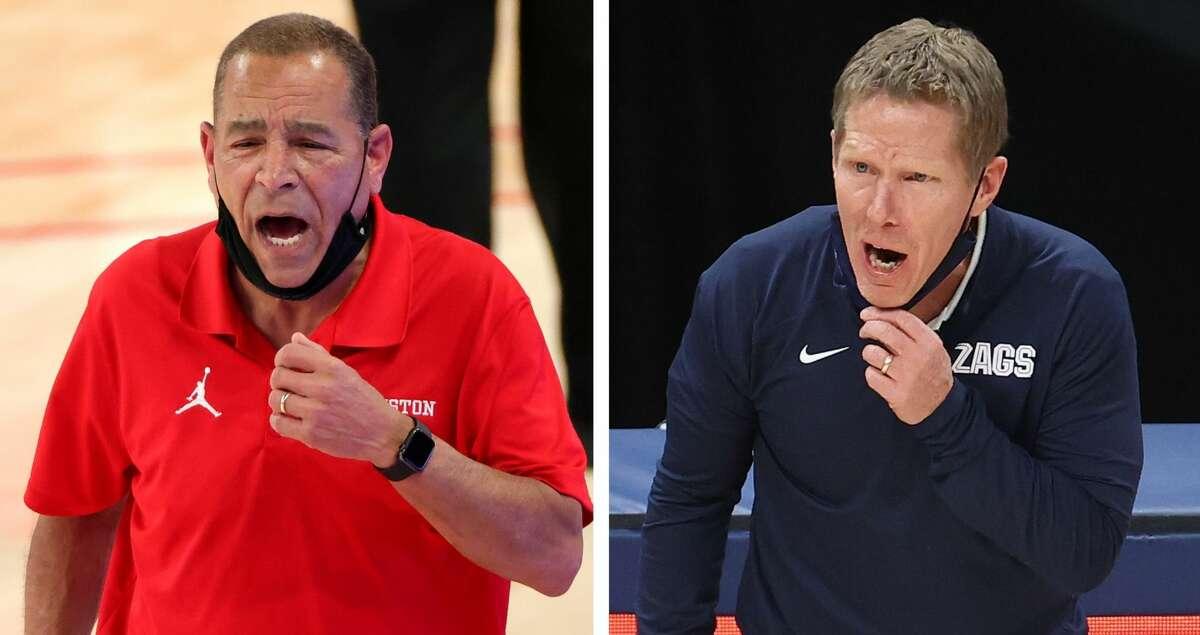 University of Houston basketball coach Kelvin Sampson and Gonzaga coach Mark Few.