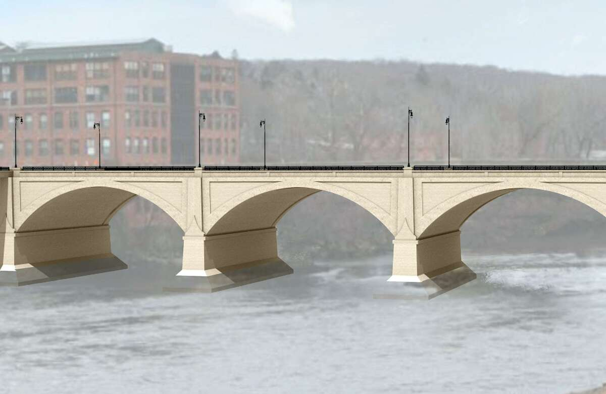 Preliminary renderings of proposed renovations to the Derby/Shelton Bridge.