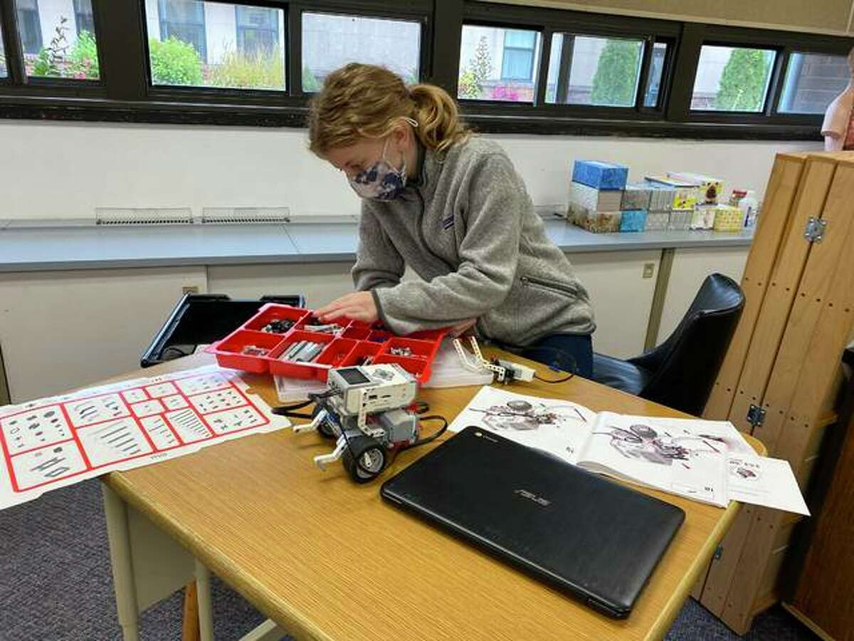 A 7th grade student at Zion Lutheran School in Bethalto works with robotics as part of a class assignment. As part of its STEM education, the school recently added a 3-D printer.