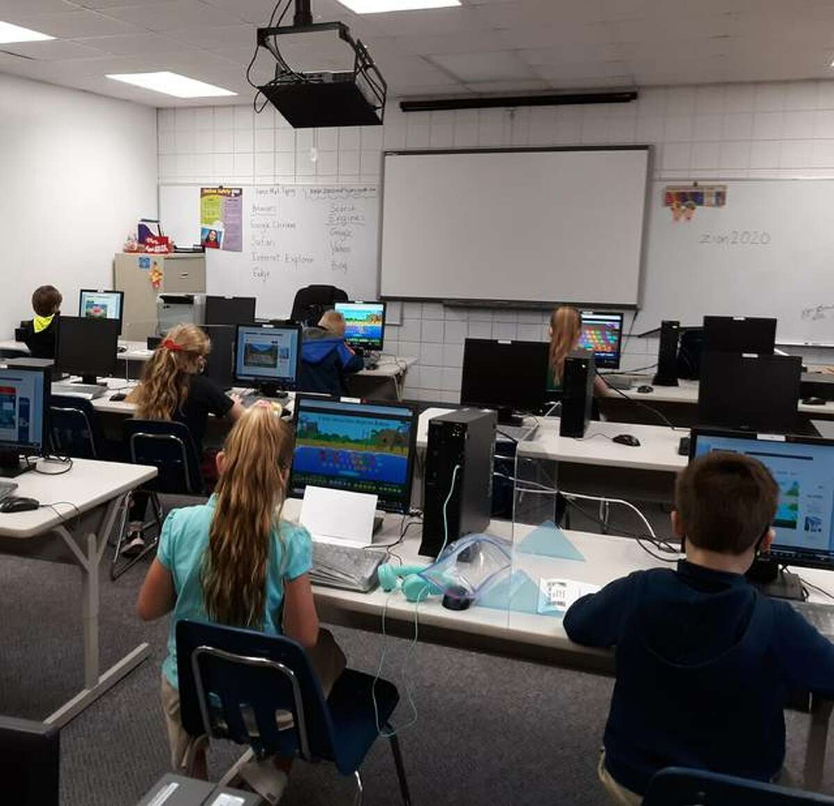 Third grade students at Zion Lutheran School are shown in a computer lab. STEM education is part of all grades, from keyboarding in kindergarten to 3-D printing in 8th grade.