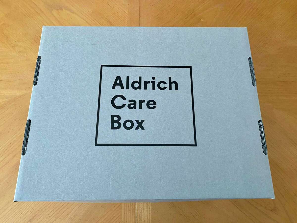 The Aldrich Care Box features artwork from five different artists.