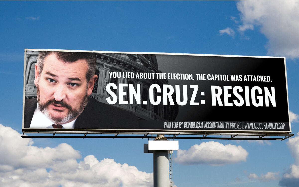 Sen. Ted Cruz is responding to the 100 billboards across Texas featuring his face with the word