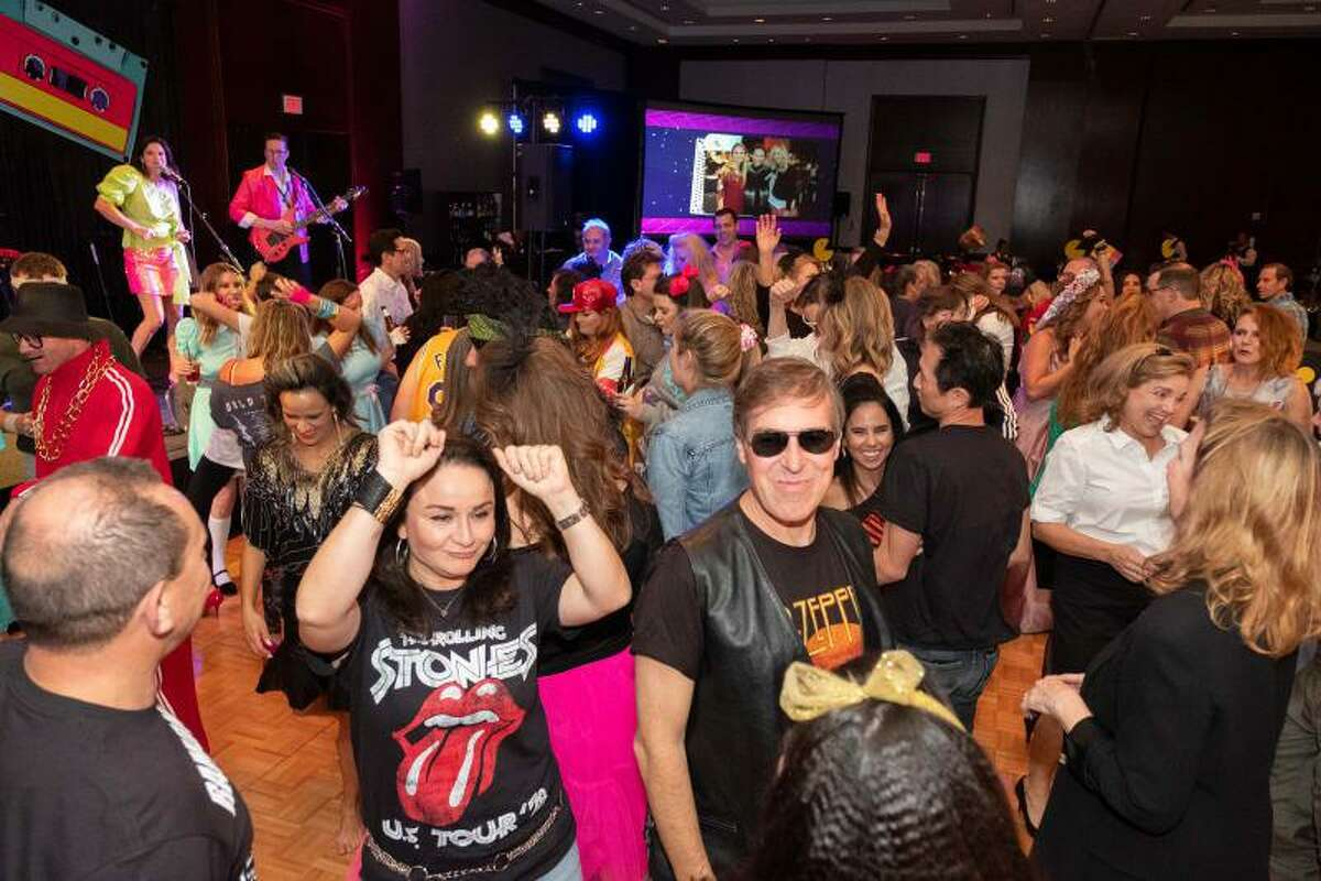 People party at the Spring Branch Education Foundation's 'Totally 80s' themed 2019 gala