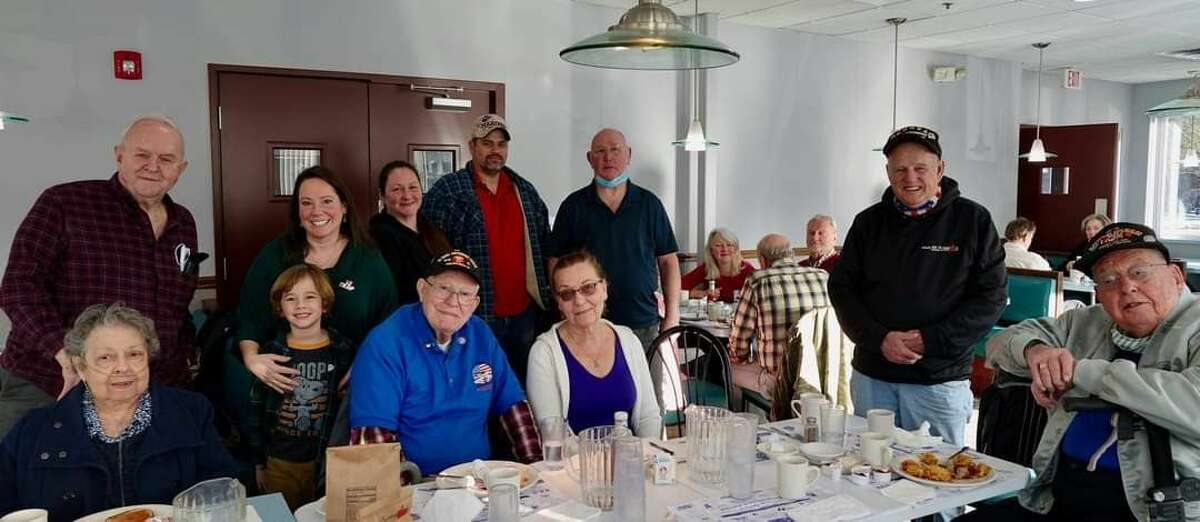 The Republican Women's Club of Columbia and Rensselaer Counties last month treated local veterans to breakfast as a thanks for their service, inclusing World War II vets Allan Atwell and Charlie Levesque. Schodack Veterans & Friends Breakfast Club Patriot Flight, Veterans and friends meet every Thursday for breakfast at the Schodack Diner at Routes 9 & 20 from 8:30 10 a.m. and follow pandemic restrictions.