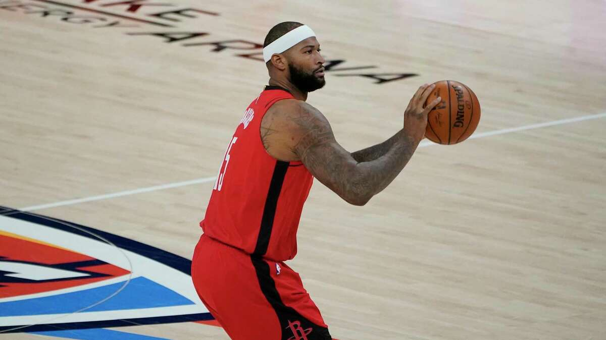 DeMarcus Cousins sank five of the Rockets' team-record 28 3-pointers in their 136-106 victory at Oklahoma City on Monday night.
