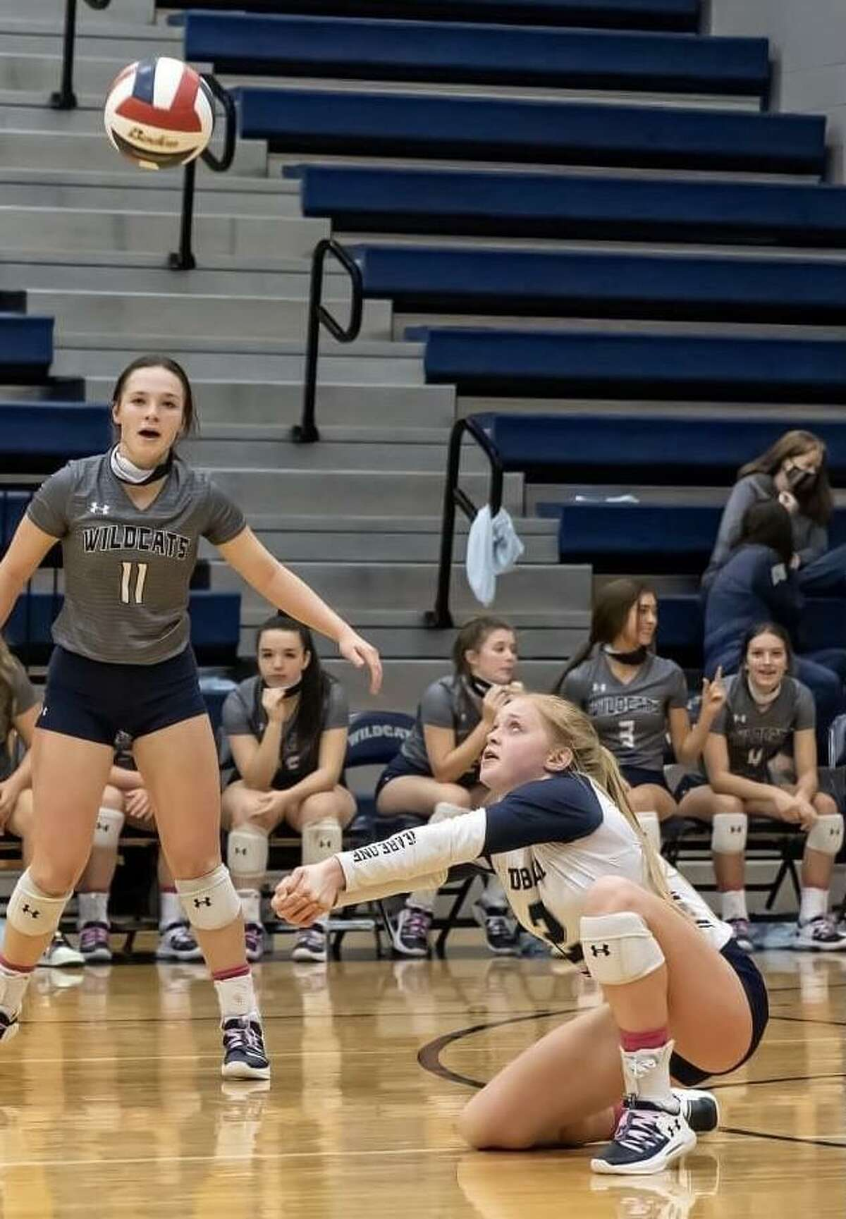 Three Tomball Memorial volleyball made the 2020 District 15-6A first-team including Emma Moncur.