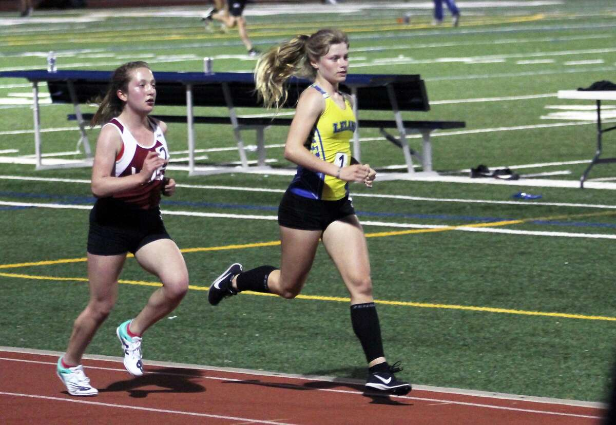Lowell's Jenna Satovsky, left, won San Francisco Section track titles as a freshman in the 800-, 1,600- and 3,200-meter runs. COVID potentially could wipe out her sophomore and junior seasons.