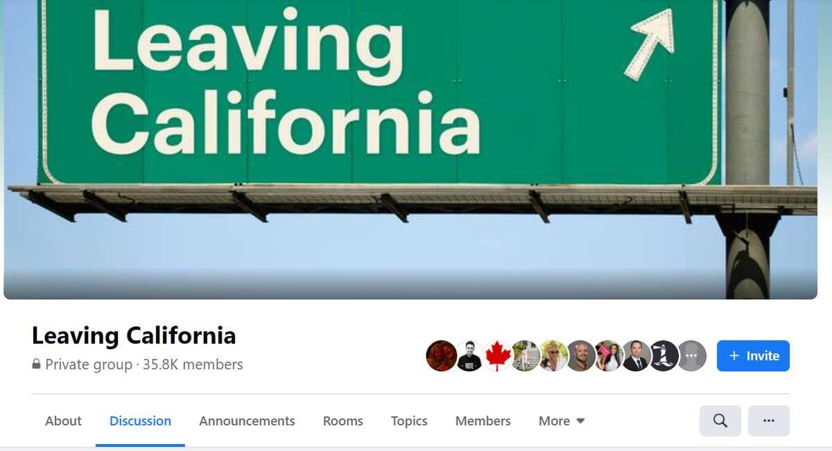 A screenshot of Leaving Facebook's header.